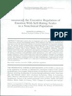 Measuring the Executive Regulation of Emotion