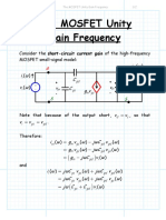 The MOSFET Unity Gain Frequency