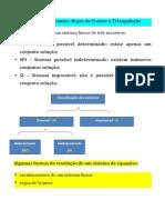 5 Determinantes Cramer e Triangulacao