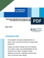 Seguridad Personal en Areas de Riesgo Andrea