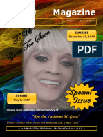 "Special Magazine In Memory of ""Rev. Dr. Catherine Gross"""