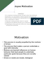 Employee Motivation -
