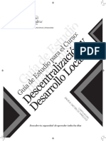 DESCENTRALIZACION Y DESARROLLO LOCAL