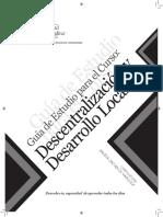 DESCENTRALIZACION Y DESARROLLO LOCAL