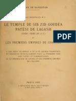 Hilaire de Barenton -  Le Temple de Sib Zid Goudéa Patési de Lagash (1921)