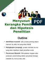 Menyusun Kerangka Pemikiran dan Hipotesis Penelitian