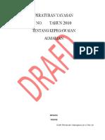 Draft Peraturan Kepegawaian 1