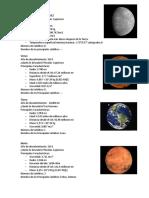 Datos 9 planetas