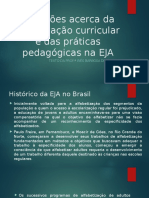 Reflexões Acerca Da Organização Curricular e Das Práticas