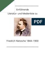 Einfuehrende Literatur Und Medienliste Zu Nietzsche