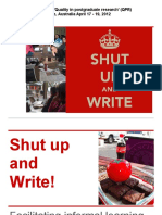 Shut Up and Write!_presentation