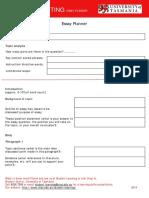 Academic Writing Essay Planner