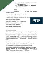 Plan de Trabajo de Las Elecciones Del Municipio Escolar 2016