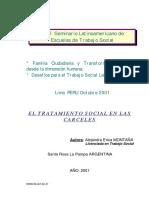 Psicologia Argentina en La Carcel y La No Reinsercion