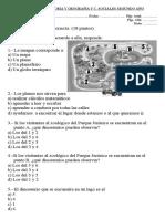 Evaluación Planos y Puntos Cardinales Segundo