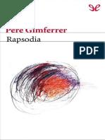 Gimferrer Pere - Rapsodia
