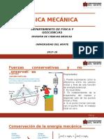 14. Fuerzas Conservativas y No Conservativas, Conservación de La Energía Mecánica