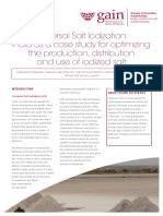Universal Salt Iodization. India as a Case Study for Optimizing the Production Distribution and Use of Iodized Salt.