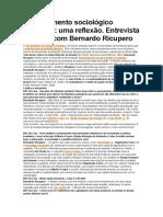 O Pensamento Sociológico Brasileiro Uma Reflexão. Entrevista Especial Com Bernardo Ricupero