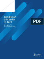 Conditions service tarif Fr
