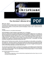Pt. 1  - The Christian's Mission & Purpose - Learning to be in the World but Not of It