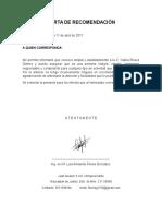 Carta de Recomendación Vea