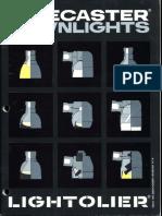 Lightolier Lytecaster Downlights Catalog 1984