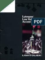 Lightolier Lytespan Low Voltage Brochure 1983