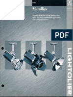 Lightolier Lytespan Metallics Brochure 1999
