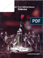 Lightolier Lytespan Track Lighting Selector Brochure 1982