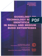 Guidelines on Technology Needs Identification in Small and Medium Sized Enterprises