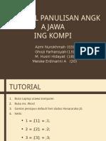 Bahasa Jawa Angka
