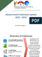 Government Indonesia Update for UN - Seoul 24-28 Maret 2015