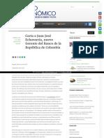 Carta a Juan Jose Echavarria