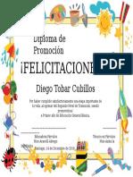Diploma de Promoción