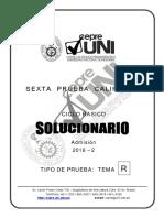 CepreUNI básico 2016-2 Solucionario de Pc 6