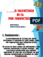 Determinacion de Cu Por Volumetria