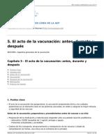 MANUAL de VACUNAS AEP - 5. El Acto de La Vacunación- Antes, Durante y Después