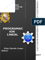 Programacion Lineal Trabajo 1