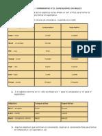 Reglas Para Formar El Comparativo y El Superlativo en Inglés