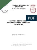Reglamento Mérida Geotecnia