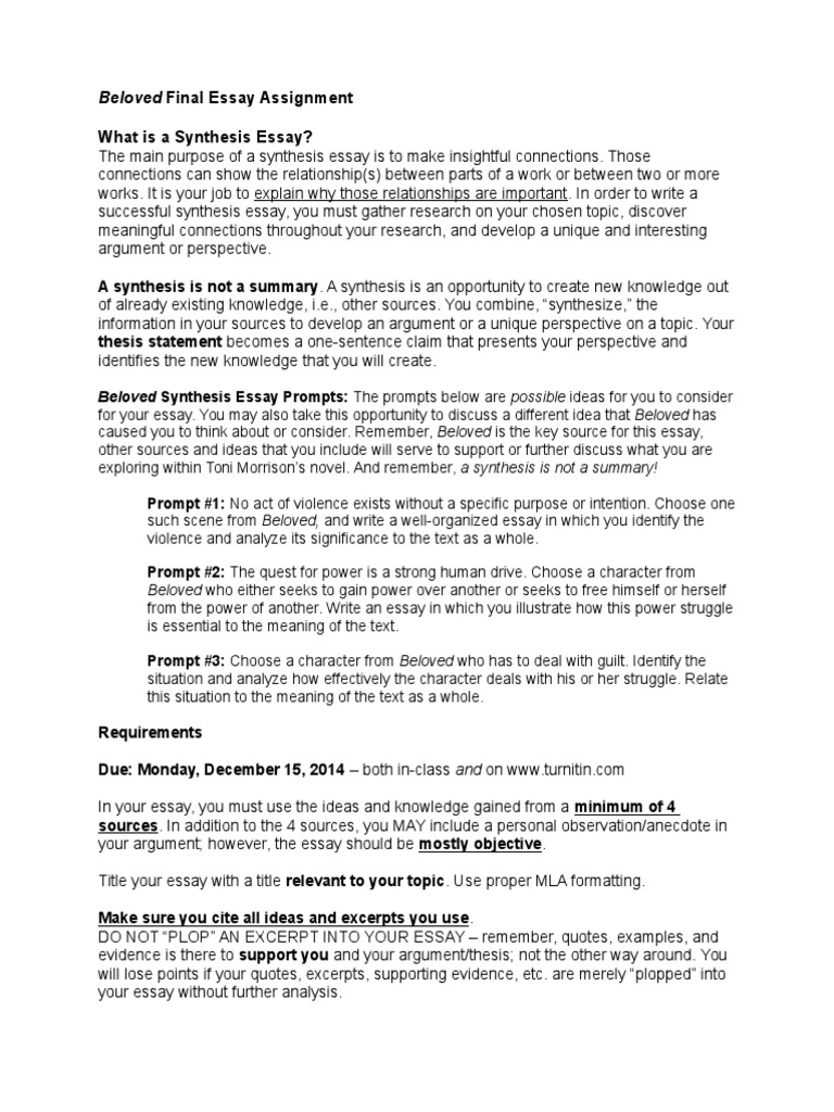 assignment for synthesis essay Huge collection of synthesis essay topics for school and college students 1 synthesis essay on zero tolerance 2 synthesis essay on war advertisements: 3 synthesis essay on global warming 4.