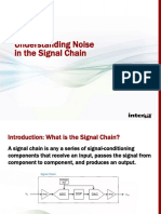 Noise in the Signal Chain Webinar