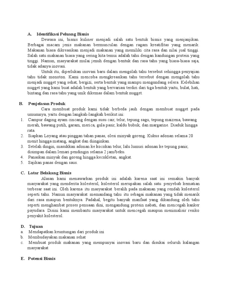 Contoh Proposal Business Plan Docx