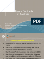 Alliance Contracts in Australia