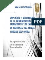 Ampliación y Mejoramiento Del Laboratorio Aci Uni 2012