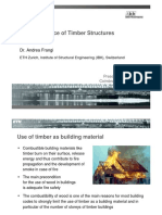Fire Resistance of Timber Structuras