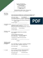 Calendar of Cases - June 1, 2017