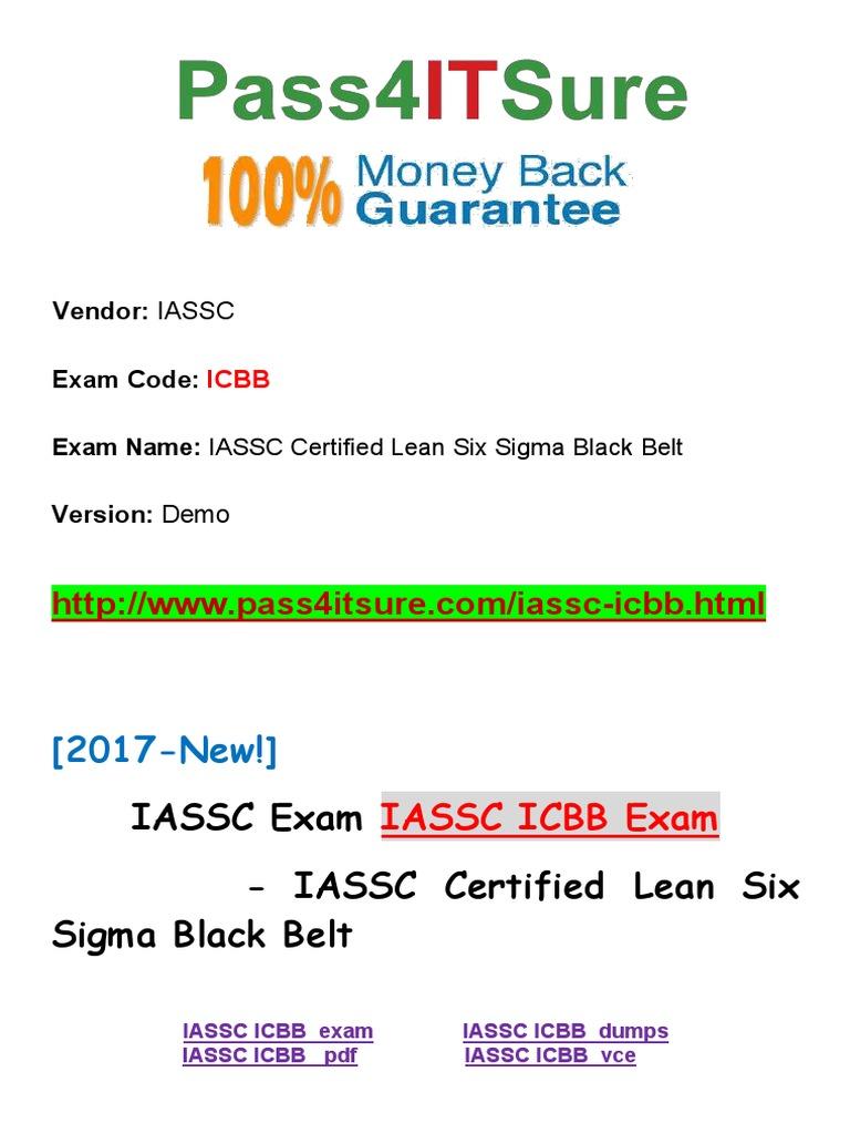 New Pass4itsure Iassc Icbb Exam Iassc Certified Lean Six Sigma