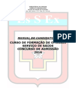Curso de Formação de Oficiais Serviço de Saúde - Manual Do Candidato(a)